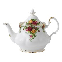 "Royal Albert Old Country Roses Teapot & SERVING TRAY 13"" NEW - $140.24"