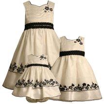 Bonnie Jean Baby Girl 3M-24M Black White Sequin Embroidered Border Organza Dress image 2