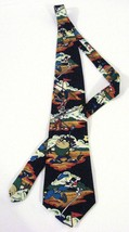 Looney Tunes Tie Golf Taz Bugs Bunny Sylvester Birdy Tasmanian Devil Nec... - $29.58