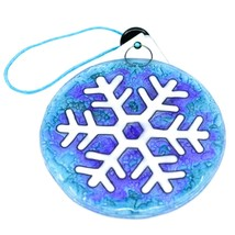 Fused Art Glass Winter Snowflake Ornament Handmade in Ecuador