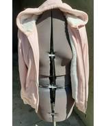 Women's Green Tea Brand LT Pink Fully Fur Lined Pink Zip Up Hoodie Size S - $32.00