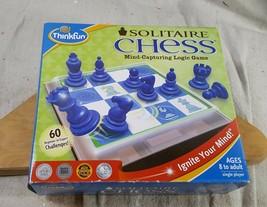 Thinkfun Solitaire Chess 60 Challenges Logic Game Brain Fun 8+ New Open Box - $17.32