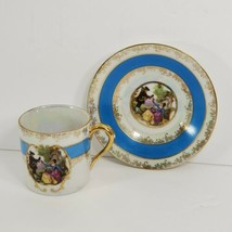 vintage Lefton china hand painted tea cup & saucer made in Japan 1798 (cs) - $17.82
