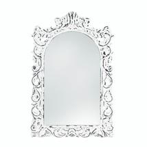 Distressed White Ornate Wall Mirror - $60.20