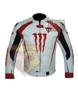 DAINESE 1011 RED WATERPROOF COWHIDE LEATHER MOTORCYCLE MOTORBIKE ARMORED... - $289.99