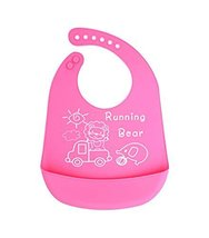 (Lion & Elephant) Cartoon Waterproof Comfortable Baby Bib/Pinafore for Baby,Pink