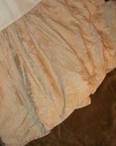 """Ralph Lauren Fairchild Sunbonnet King Bedskirt Tan Beige Floral Striped 15"""" Drop - $39.57"""