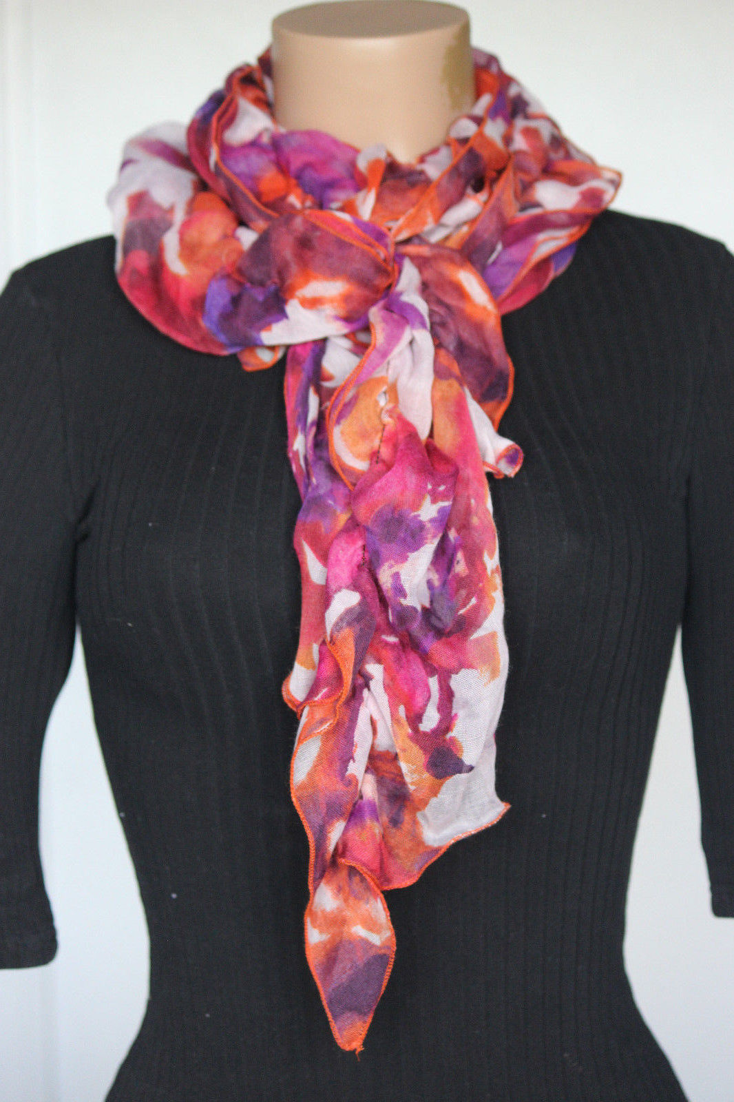 Primary image for NEW Collection 18 Eighteen Women's Neck Ruched Scarf Fuchsia Kiss 11x68