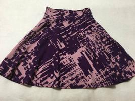 Lularoe Girls 8 Purple Lavender Splash Brushstroke Textured Azure Skirt - $19.99