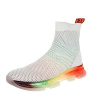 Y-AUNT049 New Michael Kors Knit Sock Rainbow Sneakers Size US 35.5 - $77.59