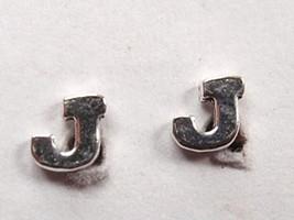 """The Letter """"J"""" Stud Earrings 925 Sterling Silver Corona Sun Jewelry j - $7.91"""
