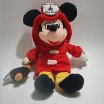 "Disney Bean Bag Plush Fireman Mickey Mouse With Axe 9"" Disneyland Mercha... - $8.91"