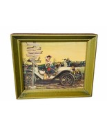 Classic Car Picture Framed sign plaque print cartoon Model T Going Place... - $24.70