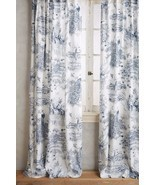 Anthropologie set of 2 Willowherb Toile Curtain... - $113.16 CAD