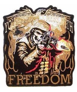 YOU JUST DONT MESS WITH FREEDOM  DELUXE EMBROIDERED BIKER  iron on - $8.96