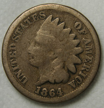 1864CN One Cent Indian Head Penny Coin Lot# MZ 3769