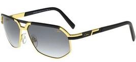 Cazal Men's 9056 001 Black/Gold Retro Pilot 61mm Sunglasses Authentic - $357.93