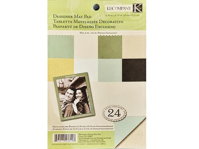 K&Company Neutrals Solid Mat Pad Cardstock #30-138407