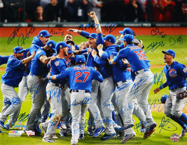 2016 CUBS Team Signed World Series Pile Up 16x20 Photo (Bryant + 25) - F... - $2,969.01