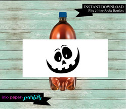 Printable Halloween Ghost Soda Bottle Wrappers Party Favors Favor Labels... - $2.00