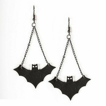 Bat Earrings New Halloween Fish Hook Style Jewelry Pierced  - $12.86