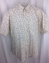 Vintage Chaps Ralph Lauren 100% Cotton Fishing Lure Shirt Mens Large Nautical - $22.95