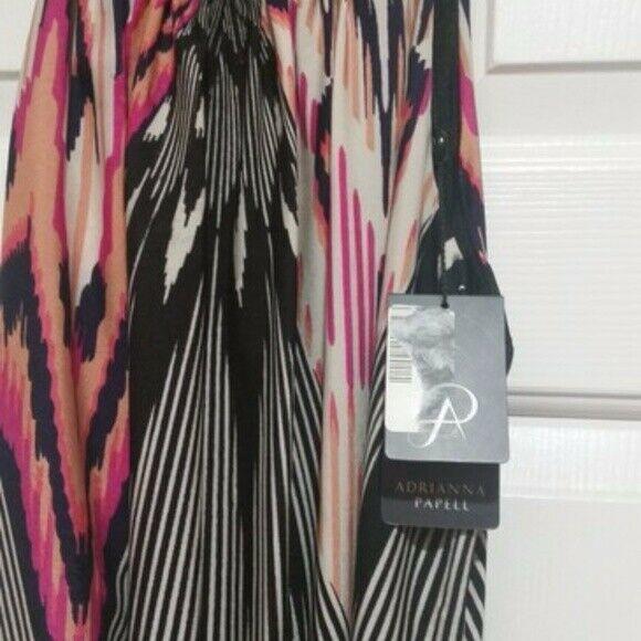 NWT Adrianna Papell Asymmetrical Halter Dress Sz 6