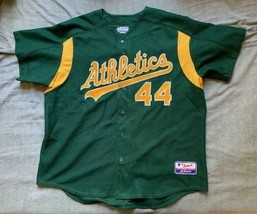 Men's Majestic MLB Oakland Athletics green jersey Gompers #44 size XXL - $24.99