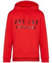RED Medium Designer A|X Armani Exchange Men's Marquee Logo Hoodie - $74.25