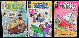 Popeye The Sailor Comic Books Whitman & Charlton 1976 1978 1980 Vintage ... - $10.88