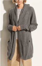$495 NWT Vince Hooded Open Front Cashmere Gray Cardigan  sz L - $229.99