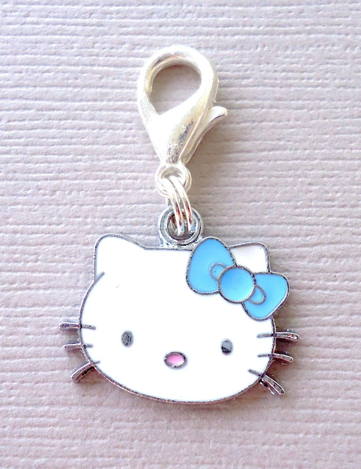 Primary image for Dangle Pendant Hello Kitty Clip On Charm fits Link Chain, floating locket C6