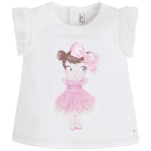 Mayoral Baby Girl 3M-24M Doll Applique Knit Top/Tee, RosePink