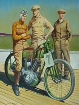 Vintage Harley Davidson starting line poster art reproduction steel sign - $19.79