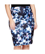 Liz Claiborne Scuba Skirt Size PS New Xanadu Orchid Msrp - $21.47
