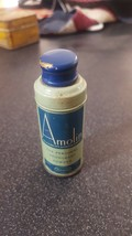 VINTAGE TIN AMOLIN PERSONAL DEODORANT POWDER NORWICH w/ ORIG METAL CAP L... - $9.89
