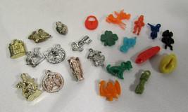 Vintage Cracker Jack Prizes Plastic Charms (22) Seahorse Animals People ... - $9.89