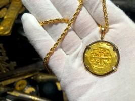 MEXICO 1711 4 ESCUDOS 1715 FLEET PENDANT JEWELRY NECKLACE PIRATE GOLD CO... - $7,950.00