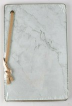 Ankyo 9x6 Inch Glass Marble Looking Cheese Board w Wall Hanging Strap NEW image 2