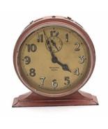 Vtg Westclox Mechanical Big Ben Alarm Clock PINK Gold Luminous 1930s - $58.50