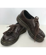 Dr Marten Brown Leather Size 6 M Lace Up DMs Loafer Women 8651 England - $44.54