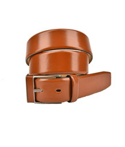 Giorgio Armani Mens Classic Belt Genuine Leather Brown Size 52 - $121.59