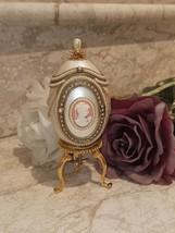 Unique Russian Faberge egg style 24k GOLD VINTAGE 2ct Diamond HANDMDE Foto Musıc - $699.00