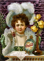 Drink Coca Cola 5 Cents Coke Vintage Advertising Poster Print On Canvas 16x20 - $173.25