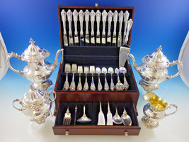 Grande Baroque by Wallace Sterling Silver Flatware Set 12 Dinner Size + Tea Set - $12,500.00