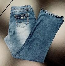 Women's Angels Jeans 20W 38 x 31 Plus Size Stretch Thick Stitch Pocket Flap - $25.73