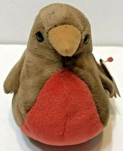 Ty Beanie Baby Early The Red Robin Bird 1997 Retired Plush - $10.62