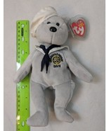 Ty Beanie Baby Ronnie Ronald Reagan Sailor USS Bear Plush - stain - $3.00