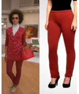 Isaac Mizrahi Live! Icon Grace Reg Pull-On Ponte Knit Pants, Russet Red,... - $22.76