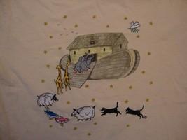 Vintage Noah's Ark Animals Cute Beige T Shirt Size M - $15.83